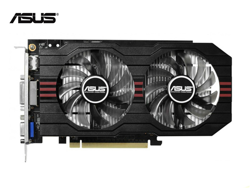 Used,original ASUS GTX 750 2GB 128bit GDDR5 Graphic Card HDMI DVI,100% Tested Good!