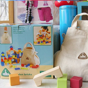Elc  baby early development wooden toys building blocks sets 100 pieces in a box elc водный
