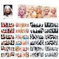 12 unids/set Sexo Mujer Marilyn Monroe Pegatinas de Uñas Calcomanías de Transferencia de Agua Etiqueta Engomada Del Arte Del Clavo Del Arte Del Clavo Decoraciones BN133-144