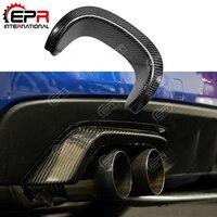For Porsche 981 Boxster Cayman Tuning Carbon Fiber Rear Bumper Muffler Exhaust Heat Shield Heatshield Cover Trim
