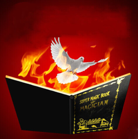 Fire Book Appearing Dove (Magician's magic fire book) - Magic tricks,stage,Illusion,Gimmick,Mentalism