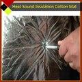 25 cm x 100 cm Auto Calor Papel De Aluminio de Algodón Aislamiento Acústico de Sonido Material de Amortiguación de Ruido Control de Auto-Adhesivo