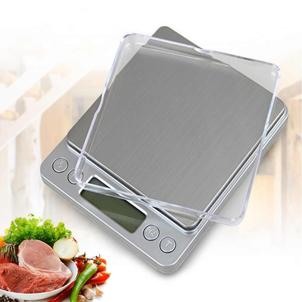 500 х 0,01 г портативные мини-электронные кухонные весы Карманный Дело почтовый Кухня Jewelry Вес Balanca цифровой весы с 2 лотка