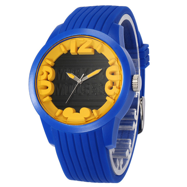 Disney brand children WristWatches boys waterproof Quartz watches sport Silicone  kids watch relogio clocks boy
