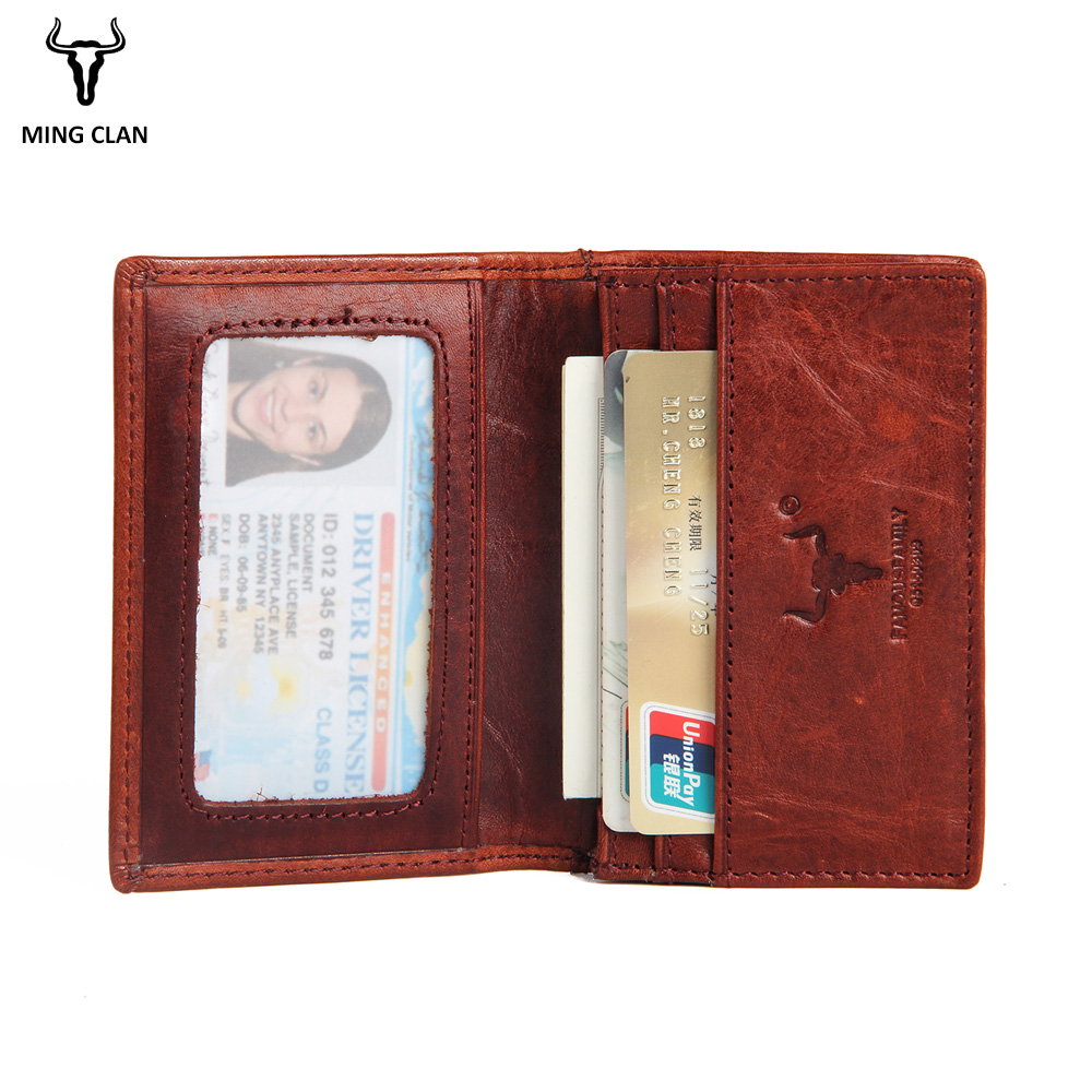 Mingclan Äkta Läder Slim Läder ID Kreditkort Hållare Bifold - Plånböcker - Foto 5