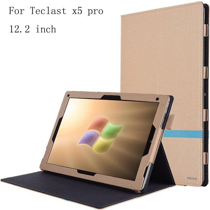 imágenes para Para teclast x5pro utra flip delgado funda de piel para teclast X5 Pro 12.2 pulgadas Tablet PC cubierta de la Caja En Stock