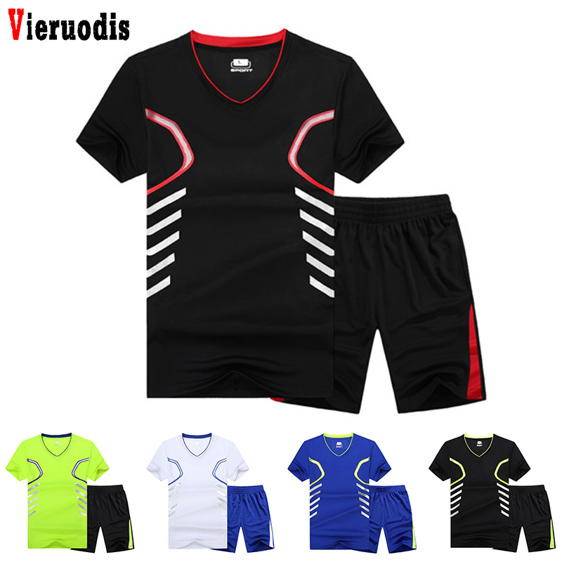 Summer Set 2019 Men Casual Two Pieces Suit Short Sleeve T-shirt & Male Streetwear Shorts Sets Tracksuit Man Short Sportswear Set