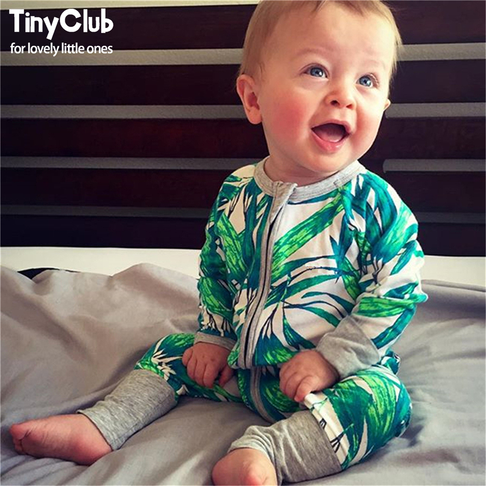 Infant Jumpsuit Long Sleeves Floral Romper Baby Boy Lány Ruhák Tiny - Bébi ruházat