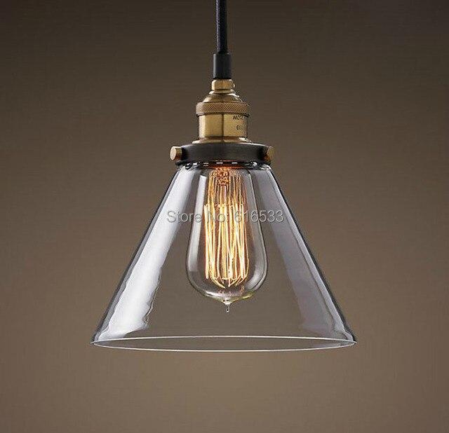 Vintage loft industriale paese americano lustre vetro edison lampada ...