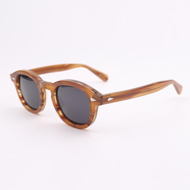 Johnny Depp gözlük polarize güneş gözlüğü erkekler kadınlar lüks marka tasarım asetat Vintage stil sürücü gözlük en kaliteli 080 1
