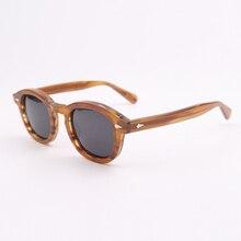 Johnny lunettes de soleil polarisées Depp pour hommes et femmes, de marque de luxe, Design en acétate, Style Vintage, pour conducteur, qualité supérieure, 080 1