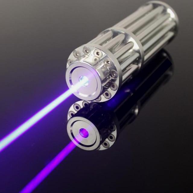Супер Мощных Военная Мощь Синий лазерный указатель 50000 МВт/50 Вт 450nm горящая спичка сухой древесины/черный/сигареты + очки + подарочная коробка