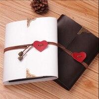 PU Leather 30 Black Paper Sheets Card Love Theme Wedding DIY Album Handmade Vintage Photo foto Scrapbooking Album 8 10 12 Inch