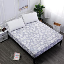 MECEROCK Polyester Printing Bed Sheet With Elastic Rubber Band  Environmental Popular Patterns Fitted Sheets Can Be