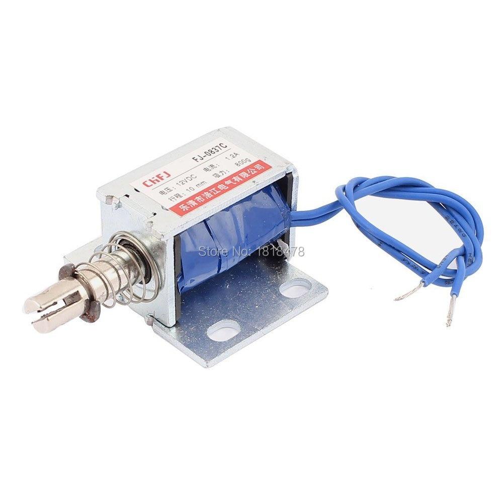 цена на FJ-0837C Push Pull Type DC Electromagnet Magnet Solenoid 10mm 800g DC 12V 1.2A