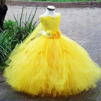 Fancy Kids Girl Wedding Flower Girls Dress Princess Party Pageant Formal Dress Prom Baby Girl Birthday