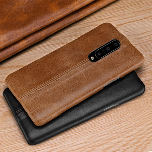 Image 2 - For OnePlus 7/ Pro Case Genuine Leather Case For OnePlus 6 6T Case Cover Luxury Stitching Leather Back Case For OnePlus 7 Pro 6T