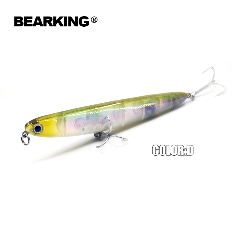 Bearking professional fishing lures 110mm 13g top water for Professional fishing gear