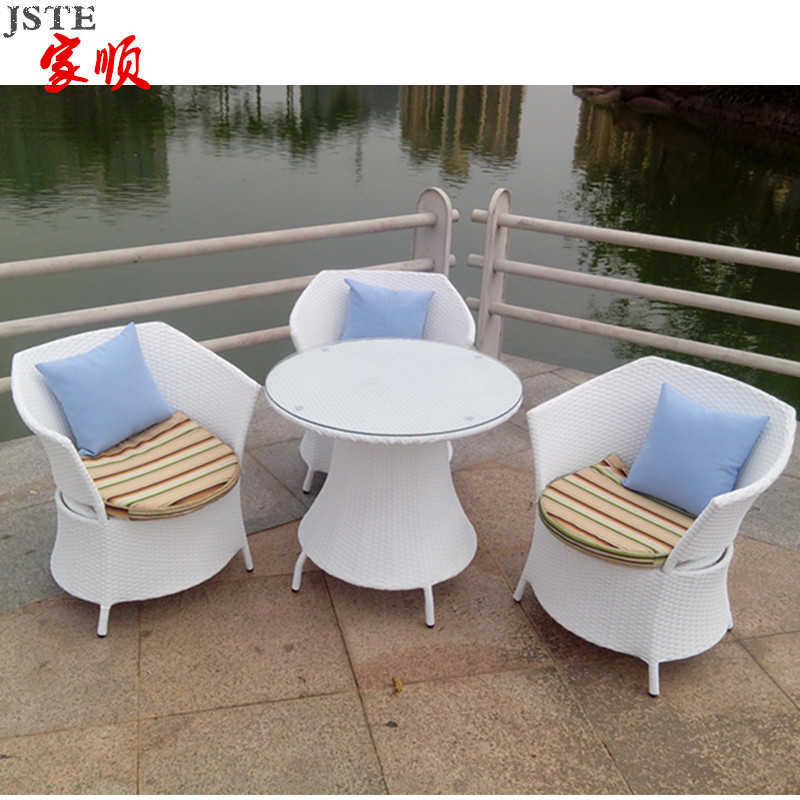 Bamboo Wicker Chair Chill Out Terrace Cafe Table And Chairs Combo Kit Rattan Coffee Outdoor Furniturin Beach Chairs From