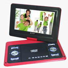 13.8 inch slim portable DVD player VCD player with screen supports USB EVD card and HD TV input AV output 270 Degree Rotation