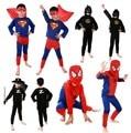 Красный паук костюм черный человек-паук бэтмен супермен хэллоуин костюмы для детей superhero мысы аниме косплей карнавальный костюм