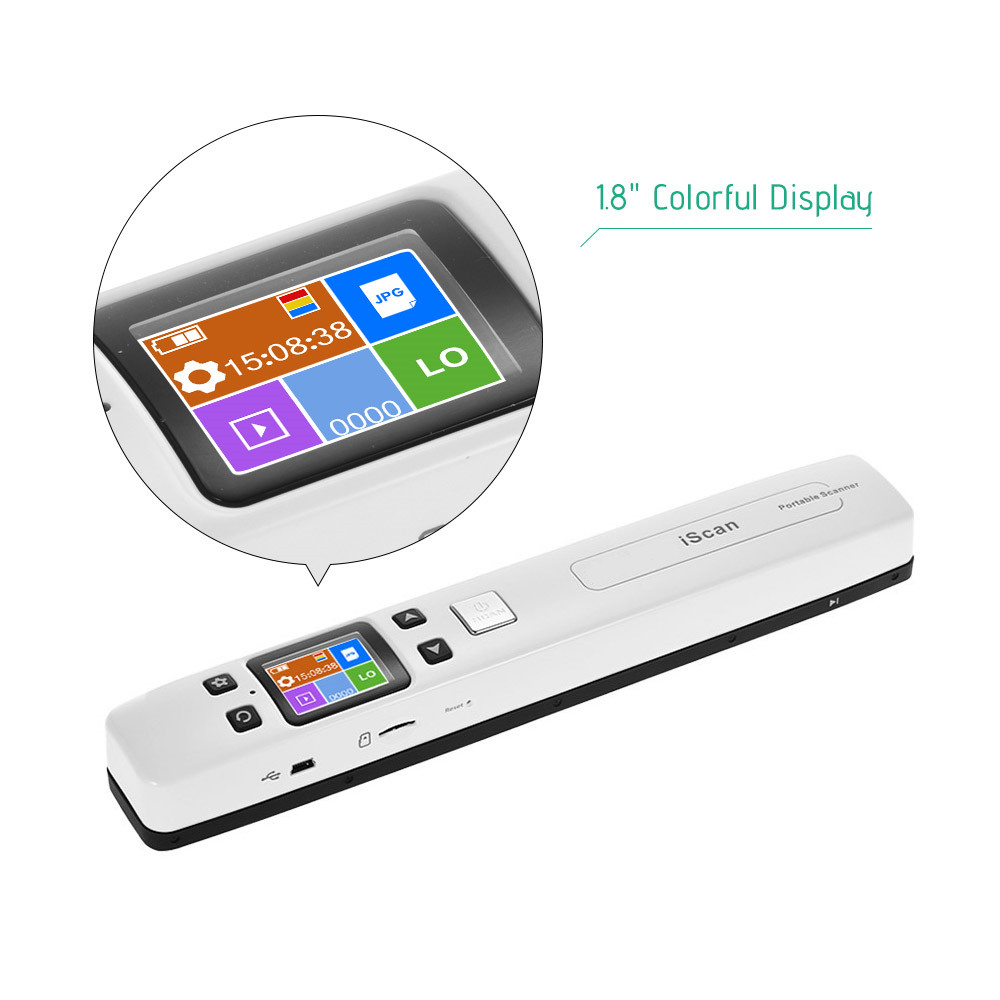 IssyzonePOS Portable Document Scanner Mini Handheld A4 Image JPG PDF Mobile Scanner WIFI with Micro SD TF Card for Book Scanning 6