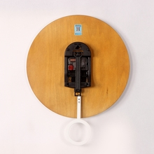 Circular Wooden Wall Clock