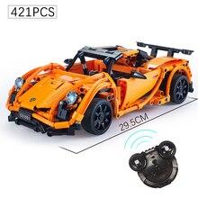 421+PCS Telecontrolled RC Series Block Sports Car Model Building Block Toys Technic Car Brick Toys For Children Kids Gift
