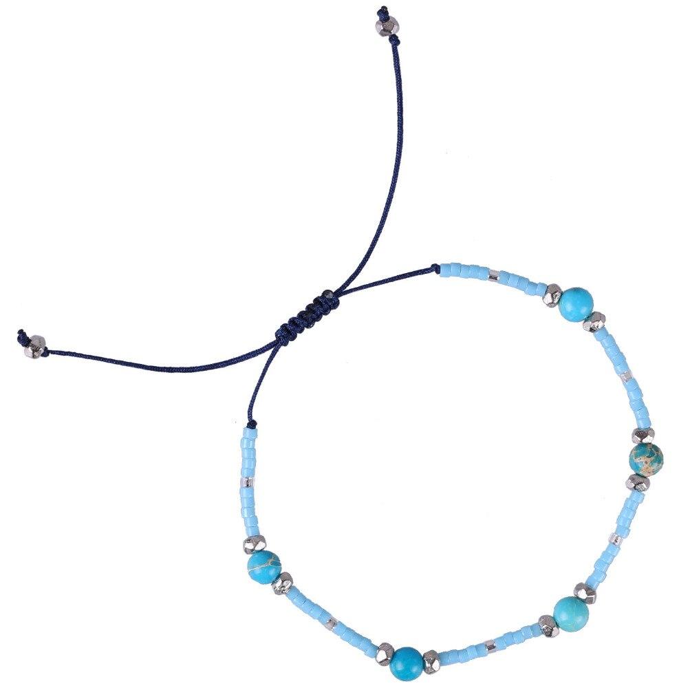 C.QUAN CHI Friendship Bracelet Jewelry Adjustable Crystal Charm Beaded Bracelets Bohemia Handmade Bracelet For Girl Women Gifts