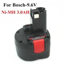 Ferramenta de Poder para Bosch Nova Marca 9.6 V 3.0ah Ni-mh Substituição DA Bateria Bat048 Bat100 Bat119 2 607 335 260700180