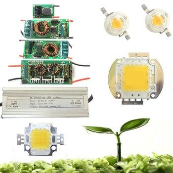 1w 3w 10W 20w 30w 50w 100w White Full Spectrum 380~780nm LED Diodes + 10w  DC Driver For Plant Grow Light