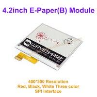 4.2インチe-紙(b) 400 × 300 e-インクドライブデモボードディスプレイモジュールカラー:赤&黒&白