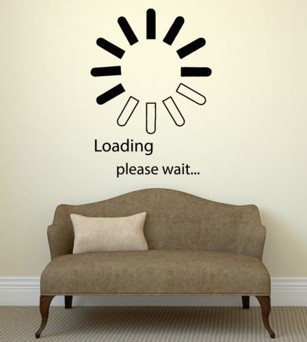 loading gamer computer pc play wall sticker home decor vinyl wall