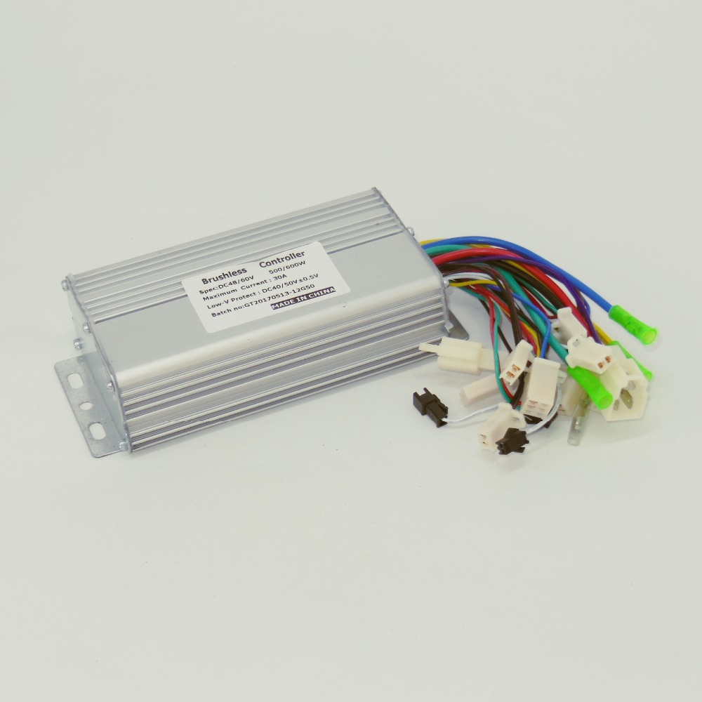 48V/60V 500W/600W 30Amax BLDC Motor Controller Electric Bike Tricycle Controller Driver