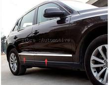 New Chrome Stainless Steel Door Body Molding Trim For Audi Q5 2009 2010 2011 2012 2013 2014 2015 2016(China)