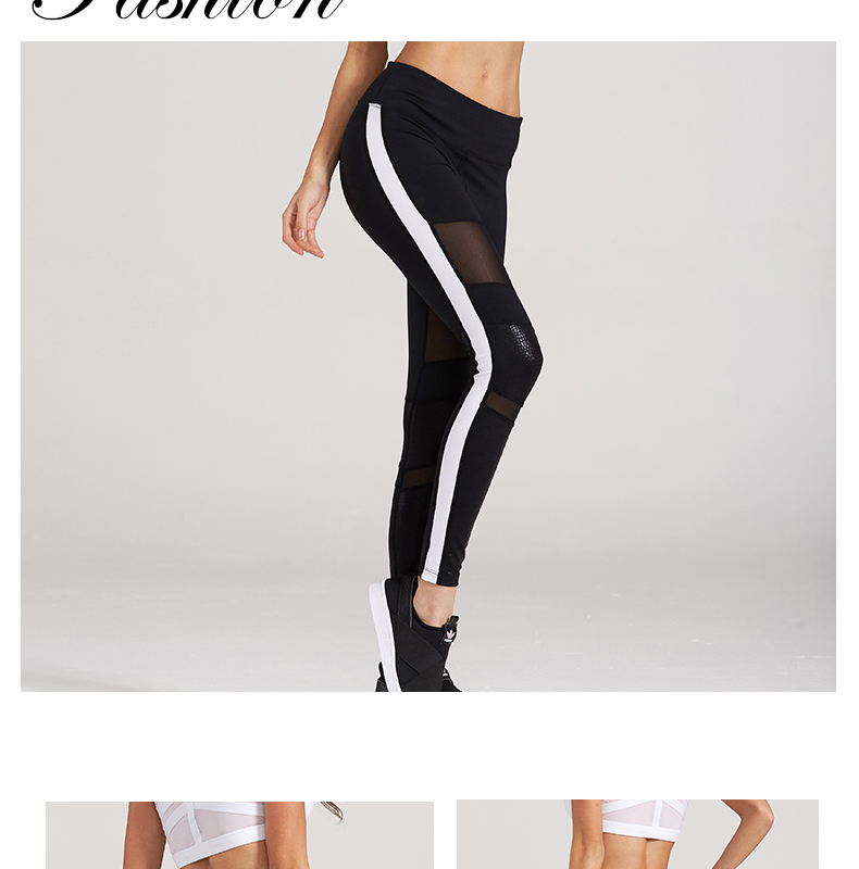 e99223fdf76d8 Syprem 2017 Spring Women Sexy Yoga Sports Pants Compression Leggings Hollow  Mesh Leggings Gym Skinny Fitness