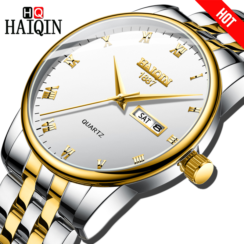 HAIQIN Mens watches top brand luxury watch men Gold Quartz Sports Mens watches Military wrist watch men relogio masculino 2019HAIQIN Mens watches top brand luxury watch men Gold Quartz Sports Mens watches Military wrist watch men relogio masculino 2019