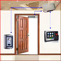 Tcp/ip и RS 485 сети Двусторонняя биометрический система контроля доступа комплект с MagLock
