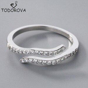 Todorova New High Quality Aquarius 12 Constellation Romantic Rings for Women Jewelry Wedding Gift