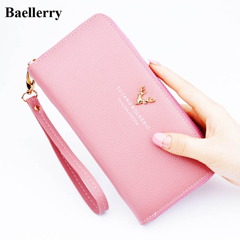 Brand Designer Leather Phone Wallets Women Purses Long Zipper Red Coin Wallet Female Money Bag Credit Card Holder Clutch Wallets 1