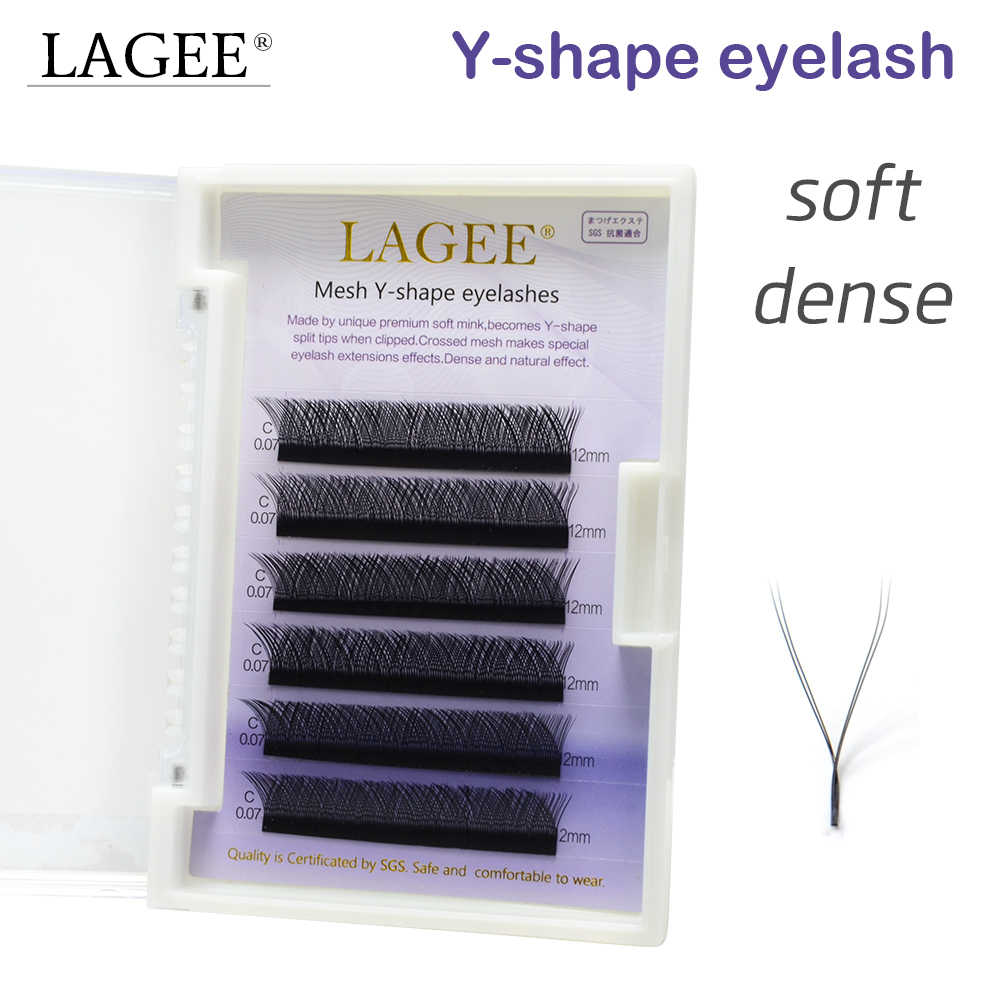 60f39359c5c LAGEE High quality faux mink Y-shape volume eyelash extension false  eyelashes weave eyelash soft