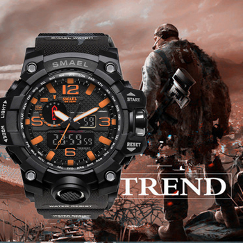 4a671f0c3fe7 Nuevo reloj SMAEL Hombres estilo G resistente a los golpes relojes  deportivos para hombre marca superior de lujo LED Digital-relojes militares  ejército ...