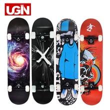 UGIN Freestyle Printing Street 19cm Long Skate Board Complete Graffiti Style Professional wooden Skateboard Skateboards Maple