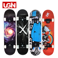 UGIN Freestyle Printing Street 19cm Long Skate Board Complete Graffiti Style Professional wooden Skateboard Skateboards Maple