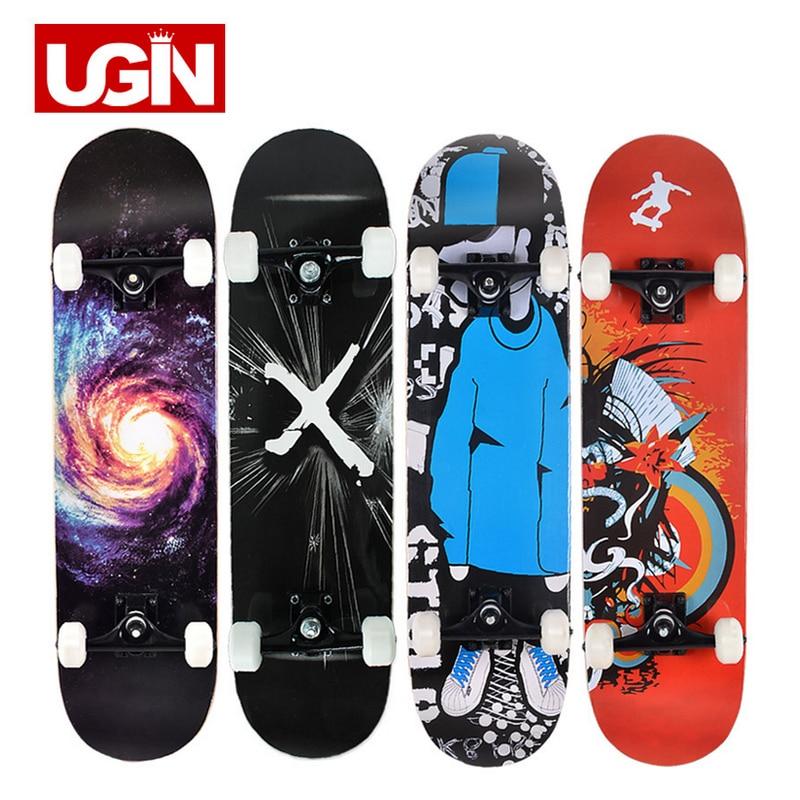 UGIN Freestyle impression rue 19 cm longue planche à roulettes Style Graffiti professionnel planche à roulettes en bois planches à roulettes érable