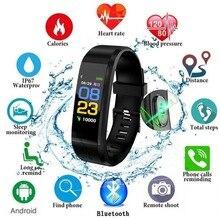 Новый смарт часы мужской женский браслет монитор сердечного ритма крови Давление Фитнес трекер спортивные часы для смарт-браслет IOS Android