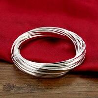 New sterling silver bracelet fashion personality.Solid 925 silver women bracelet.15 combination bracelets.Charming lady jewelry