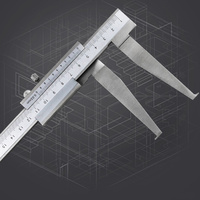 10 160mm Inside Groove Vernier Calipers Stainless Steel Long Claw High Accuracy Measuring Tool CLH@8