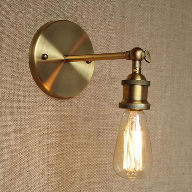 Modern brief LOFT Bronze adjust wall lamp for Bar Bathroom study ...