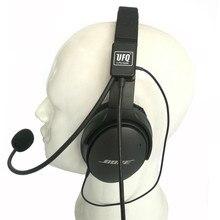 UFQ AV Mike 2 zestaw słuchawkowy z mikrofonem lotnictwa garnitur dla Bose QC25, QC35 również może współpracować z Sony lub Sennheiser słuchawki dobrej jakości